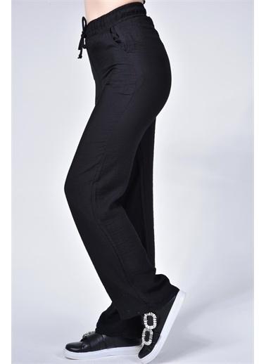 Rodi Jeans Kadın Airobinli Bol Paça Beli Lastikli Pantolon Rd21Yb011241 Siyah